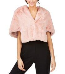 eliza j blush faux-fur jacket