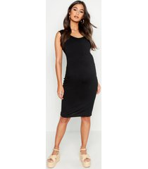 maternity bodycon dress, black