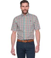 campbell casual shirt met korte mouwen groen