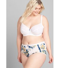 lane bryant women's extra soft full brief panty 34/36 majestic floral
