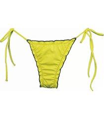 calcinha due pezzi ripple amarelo - amarelo - feminino - dafiti