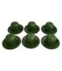 jogo de xícaras com pires 6 canecas esmaltada 180ml chá café verde