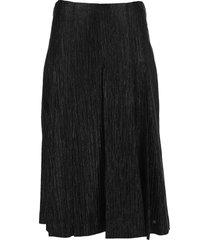 fendi metallic effect skirt