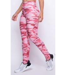 legging estampada camuflada rosa honey be lg1287 rosa