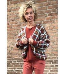 les tricots d'o vest fw19hsq100 multicolor rood