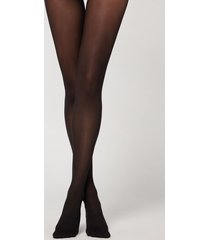 calzedonia 30 denier totally invisible tights woman black size 3