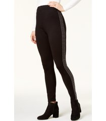 bar iii studded mid-rise leggings, created for macy's