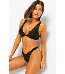 essentials driehoek bikini top met volle cup, zwart