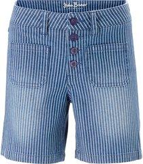 shorts di jeans elasticizzati a righe (blu) - john baner jeanswear