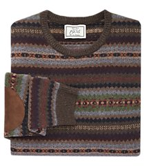 1905 collection wool blend crew neck fair isle men's sweater clearance