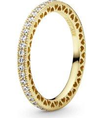 anel coração de pandora shine™