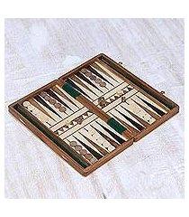 wood backgammon set, 'classic match' (india)