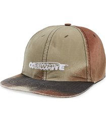 men's off-white pivot logo camo baseball cap -