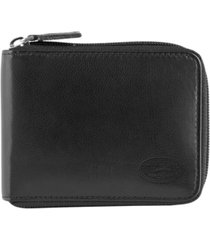 mancini manchester collection men's rfid secure zippered wallet with removable passcase