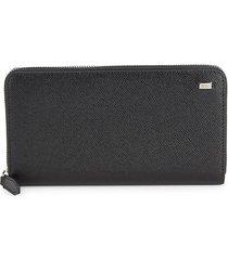 bally men's balen leather continental wallet - black