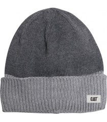 gorro lana cat wm beanie gris cat