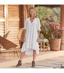 sundance catalog women's jasmine eyelet dress in mrshmallow petite 2xs