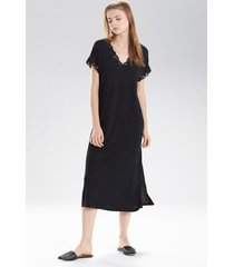 natori zen floral t-shirt nightgown, women's, black, size s natori