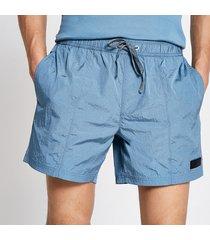 river island mens pastel tech blue drawstring swim shorts