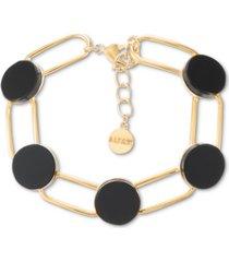 alfani gold-tone helio stone flex bracelet, created for macy's