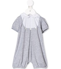 siola peter pan collar romper - grey