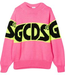 gcds mini pink sweater