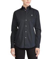 blusa slim-fit poplin negro polo ralph lauren