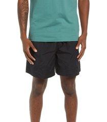 men's brixton men's jupiter cotton blend hybrid shorts, size large - black