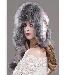 2017 new women's winter trapper hat genuine fox raccoon fur russian ushanka hat