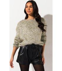 akira godsent fluffy metal sweater