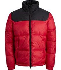 donsjas jack & jones 12191285 jcovibes collar puffer jacket tango red