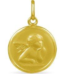 ciondolo in oro giallo angelo per unisex