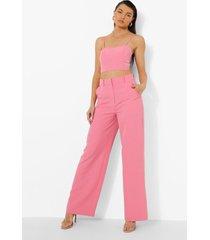 getailleerde baggy broek, candy pink