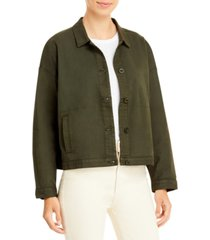 eileen fisher petite organic cotton jacket