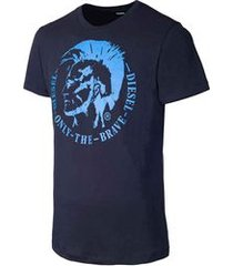 camiseta diesel t-head azul