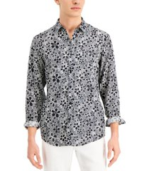 inc international concepts men's graphic floral-print shirt, created for macy's