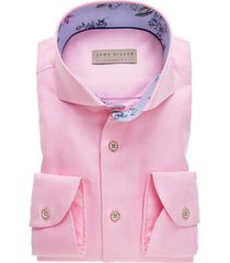 john miller overhemd roze structuur tailored fit