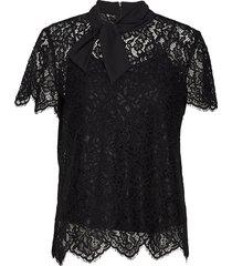 calacy-1 blouses short-sleeved svart hugo