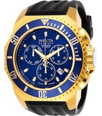 reloj invicta negro modelo 257ca para hombres, colección russian diver