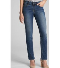 jeans straight medium leila azul gap
