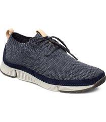 tri native låga sneakers blå clarks