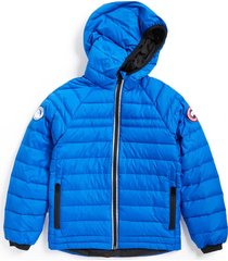 kid's canada goose sherwood hooded packable jacket, size l (14-16) - blue
