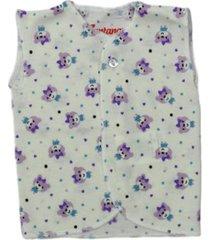 camiseta esqueleto estampado ositos lila santana x2 unidades