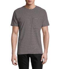 paul smith men's striped organic cotton t-shirt - taupe - size xxl