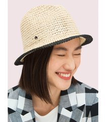 kate spade new york heritage stripe crushable fedora