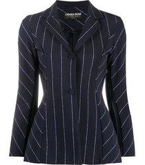 le petite robe di chiara boni fedora slim-fit jacket - blue