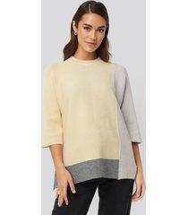 na-kd block colour oversized sweater - multicolor