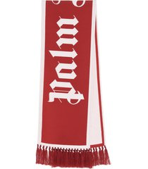 palm angels gothic logo scarf
