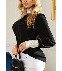 yoins negro ajustable cuello blusa sin mangas asimétrica con tirantes