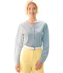 blouse paola lichtblauw::marine::vanille